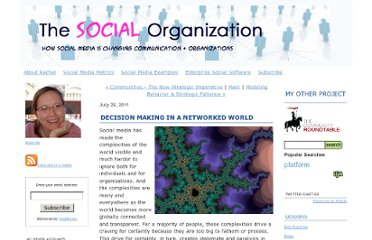 http://www.thesocialorganization.com/2011/07/decision-making-in-a-networked-world.html