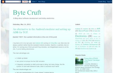 http://bytecruft.blogspot.com/2011/05/alternative-to-android-emulator-and.html