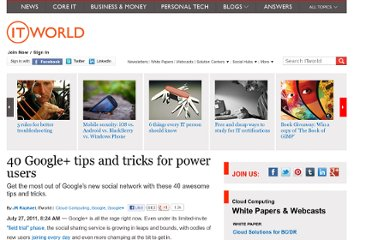 http://www.itworld.com/cloud-computing/186949/40-google-tips-and-tricks-power-users
