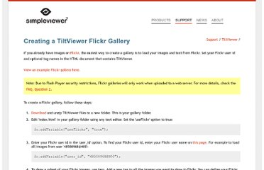http://www.simpleviewer.net/tiltviewer/support/flickr.html