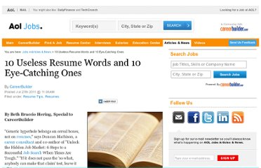 http://jobs.aol.com/articles/2011/07/27/ten-useless-resume-words-and-ten-eye-catching-ones/