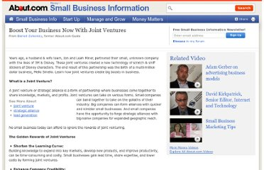 http://sbinformation.about.com/cs/bestpractices/a/jointventure.htm