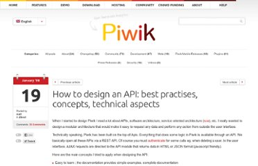 http://piwik.org/blog/2008/01/how-to-design-an-api-best-practises-concepts-technical-aspects/