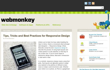 http://www.webmonkey.com/2011/06/tips-tricks-and-best-practices-for-responsive-design/