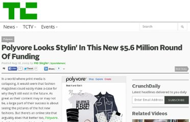 http://techcrunch.com/2009/08/18/polyvore-looks-stylin-in-this-new-56-million-round-of-funding/
