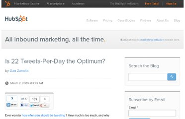 http://blog.hubspot.com/blog/tabid/6307/bid/4594/Is-22-Tweets-Per-Day-the-Optimum.aspx