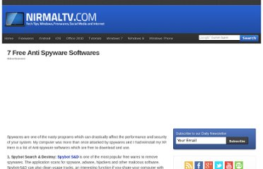 http://www.nirmaltv.com/2007/11/01/7-free-anti-spyware-softwares/