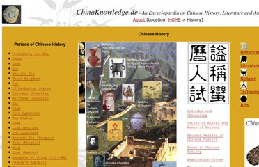 http://www.chinaknowledge.de/History/history.htm
