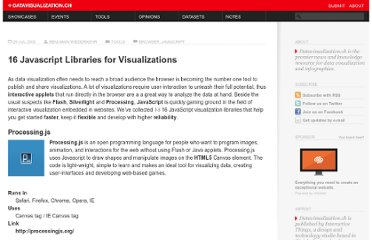 http://datavisualization.ch/tools/13-javascript-libraries-for-visualizations/