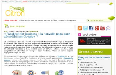 http://www.presse-citron.net/facebook-for-business-la-nouvelle-page-pour-decredibiliser-google
