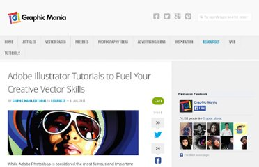 http://www.graphicmania.net/adobe-illustrator-tutorials-to-fuel-your-creative-vector-skills/