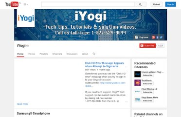 http://www.youtube.com/user/iyogi