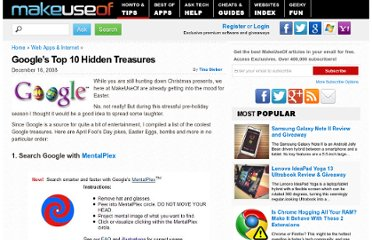 http://www.makeuseof.com/tag/googles-top-10-hidden-treasures/