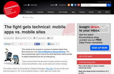http://econsultancy.com/blog/7832-the-fight-gets-technical-mobile-apps-vs-mobile-sites