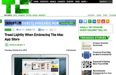 http://techcrunch.com/2010/10/21/tread-lightly-when-embracing-the-mac-app-store/