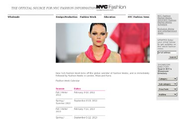 http://nycfashioninfo.com/fashion-week.aspx