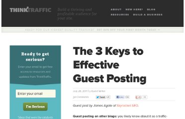 http://thinktraffic.net/the-3-keys-to-effective-guest-posting