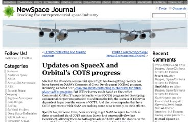 http://www.newspacejournal.com/2011/07/27/updates-on-spacex-and-orbitals-cots-progress/