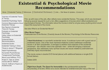 http://www.existential-therapy.com/Arts/Movies.htm