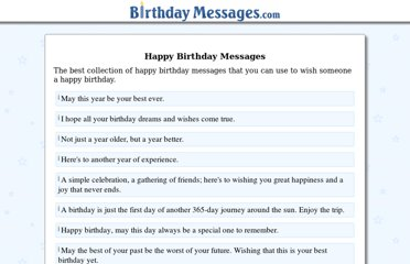 http://www.birthdaymessages.com/happy/happy1.htm