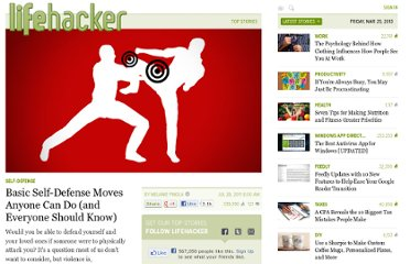 http://lifehacker.com/5825528/basic-self+defense-moves-anyone-can-do-and-everyone-should-know