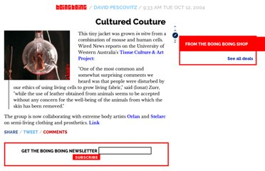 http://boingboing.net/2004/10/12/cultured-couture.html