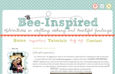 http://bee-inspired.blogspot.com/2011/07/lets-get-organized.html