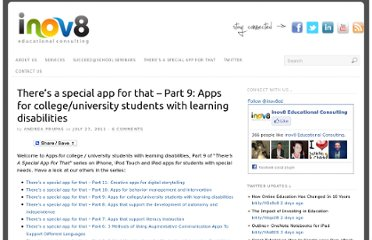 http://www.inov8-ed.com/2011/07/theres-a-special-app-for-that-part-9-apps-for-college-university-students-with-learning-disabilities/