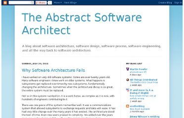 http://abstractsoftware.blogspot.com/2011/07/why-software-architecture-fails.html