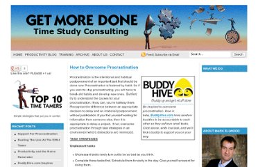 http://getmoredone.com/2010/05/how-to-overcome-procrastination/