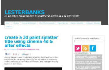 http://lesterbanks.com/2010/11/create-a-3d-paint-splatter-title-using-cinema-4d-after-effects/