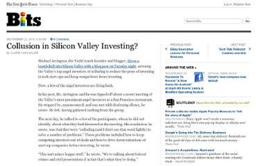 http://bits.blogs.nytimes.com/2010/09/22/collusion-in-silicon-valley-investing/