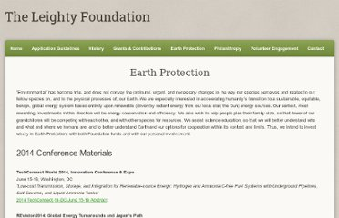 http://www.leightyfoundation.org/earth.php