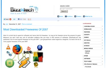 http://www.bizzntech.com/2007/12/31/most-downloaded-freewares-of-2007