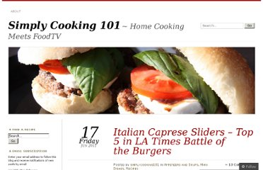 http://simplycooking101.wordpress.com/2011/06/17/italian-caprese-sliders-top-5-in-la-times-battle-of-the-burgers/