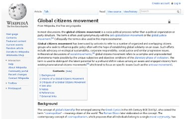 http://en.wikipedia.org/wiki/Global_citizens_movement
