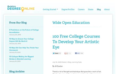 http://www.bachelorsdegreeonline.com/blog/2009/100-free-college-courses-to-develop-your-artistic-eye/