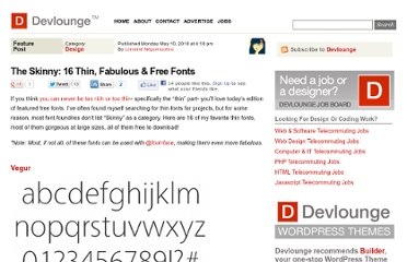 http://www.devlounge.net/design/the-skinny-16-thin-fabulous-free-fonts