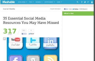 http://mashable.com/2010/06/27/essential-social-media-resources-10/