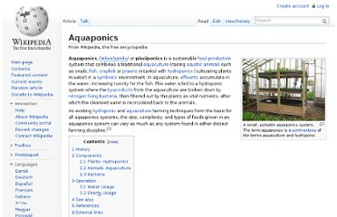 http://en.wikipedia.org/wiki/Aquaponics#Pros_and_cons