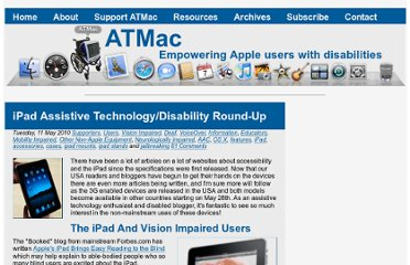 http://atmac.org/ipad-assistive-technology-disability-round-up