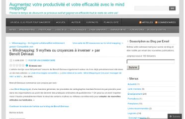 http://cartesdesidees.wordpress.com/2011/06/03/mindmapping-9-mythes-ou-croyances-a-inverser/