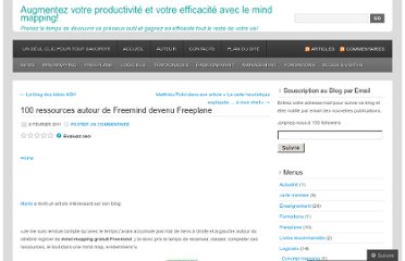 http://cartesdesidees.wordpress.com/2011/02/06/100-ressources-autour-de-freemind-devenu-freeplane-2/
