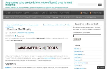 http://cartesdesidees.wordpress.com/2011/07/08/30-outils-de-mind-mapping/
