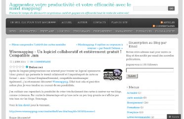 http://cartesdesidees.wordpress.com/2011/06/02/wisemapping-un-logiciel-collaboratif-et-entierement-gratuit-compatible-mm/