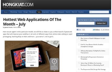 http://www.hongkiat.com/blog/hottest-web-applications-of-the-month-july/