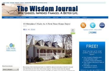 http://www.thewisdomjournal.com/Blog/first-time-homebuyer-mistakes/