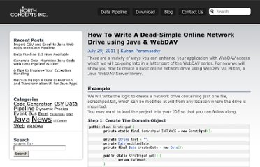 http://northconcepts.com/blog/2011/07/29/how-to-write-a-dead-simple-online-network-drive-using-java-and-w/