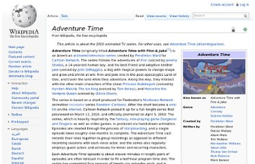 http://en.wikipedia.org/wiki/Adventure_Time