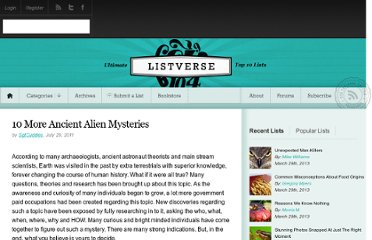 http://listverse.com/2011/07/29/10-more-ancient-alien-mysteries/
